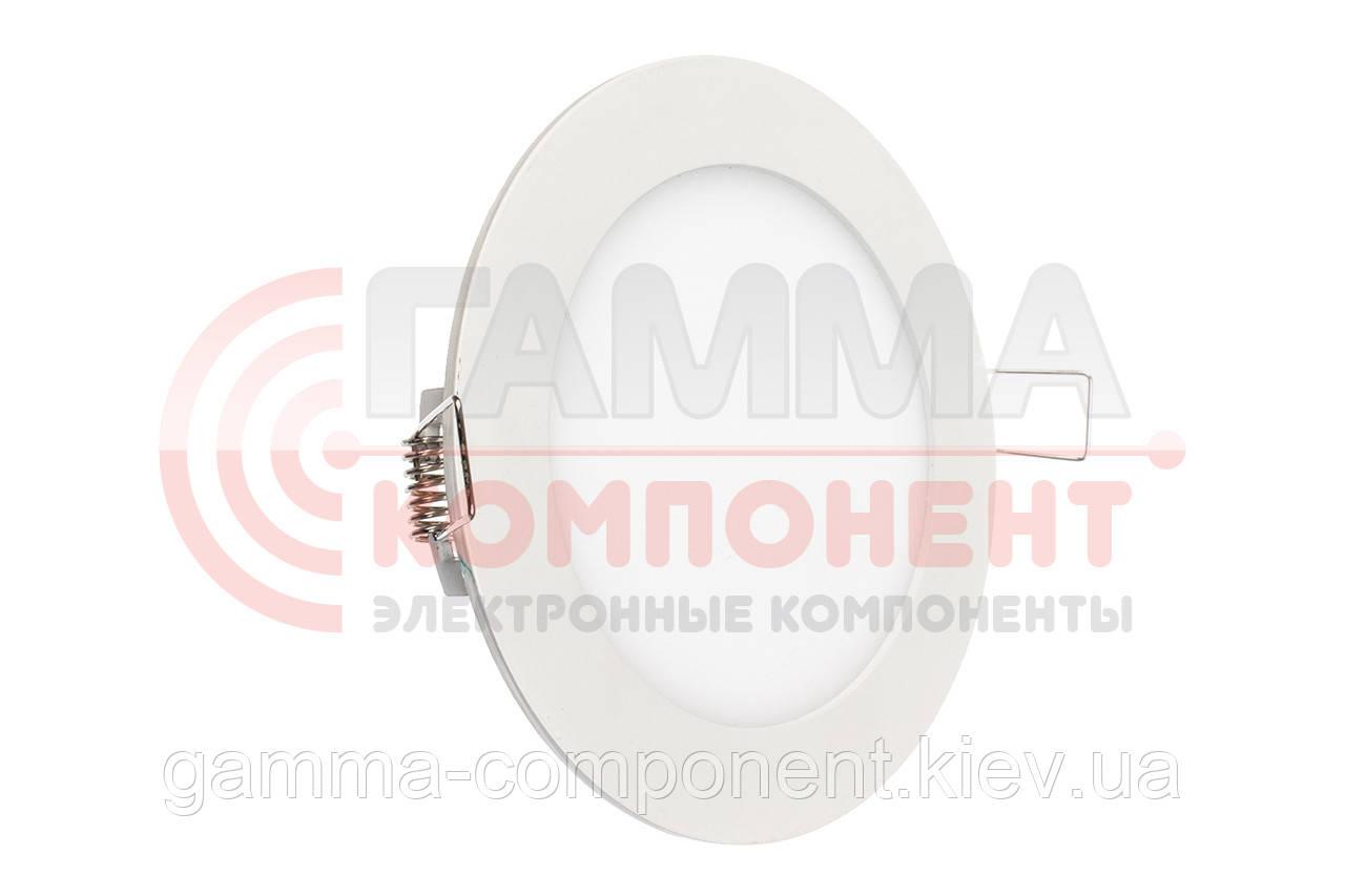 Светодиодный светильник точечный 9Вт, круглый, теплый белый, IP20