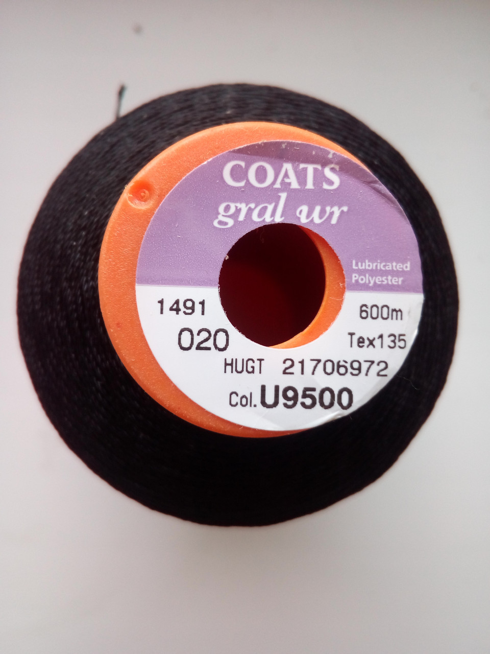 Coats Gral wr №20.  цвет Чёрный.  600 м.  ВЛАГОЗАЩИТНАЯ ПРОПИТКА
