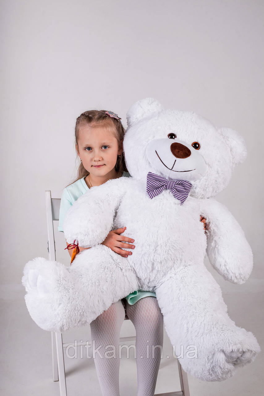 Мягкая игрушка Медведь Джон (110см)Белый