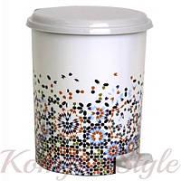 Ведро для мусора с педалью Рисунок 24л рисунки в ассортименте, фото 1