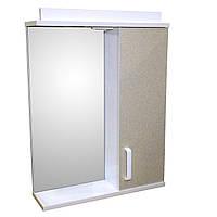 Дзеркало 55 для ванної кімнати з підсвічуванням і шафкою Дебют Перфект галактика