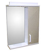 Зеркало 55 для ванной комнаты с подсветкой и шкафчиком Дебют Перфект галатктика