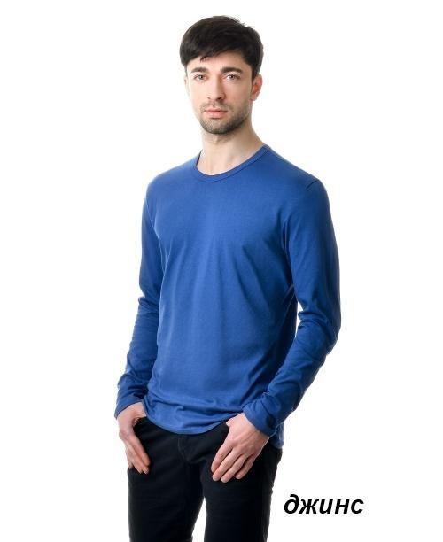 Реглан чоловічий однотонний 100% бавовна (джинс)