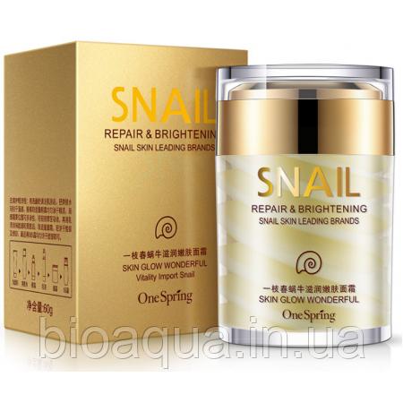 Крем для лица One Spring Snail Cream с фильтратом улитки 60 g