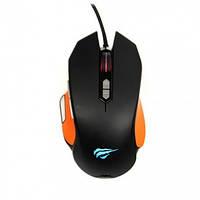 Мышь игровая проводная Havit HV-MS762  black/orange