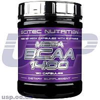 Scitec Nutrition Mega BCAA 1400 БЦАА аминокислоты для тренировок спортивное питание
