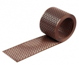 Лента свеса вентиляционная 80х5000мм. Цвет коричневый