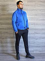Спортивный костюм мужской Nike электрик (синий), черный Турция реплика, фото 3