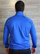 Спортивный костюм мужской Nike электрик (синий), черный Турция реплика, фото 2