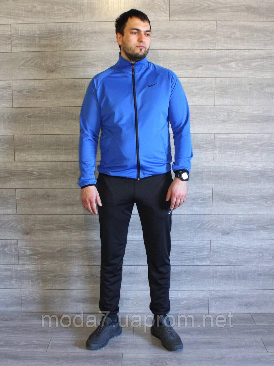Спортивный костюм мужской Nike электрик (синий), черный Турция реплика