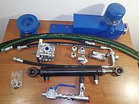 Комплект гидравлики трехходовым краном на минитрактор, мотоблок , фото 1