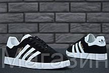 Мужские кроссовки Adidas Originals Gazelle Адидас Газели черные, фото 3