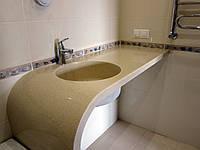Столешница для ванной комнаты из искусственного камня, фото 1