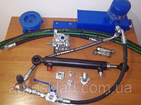Комплект гидравлики с трехходовым краном на минитрактор, мотоблок, фото 2