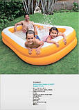 Надувний басейн Intex 57181 «Мандарин», 229 х 147 х 46 см, фото 4