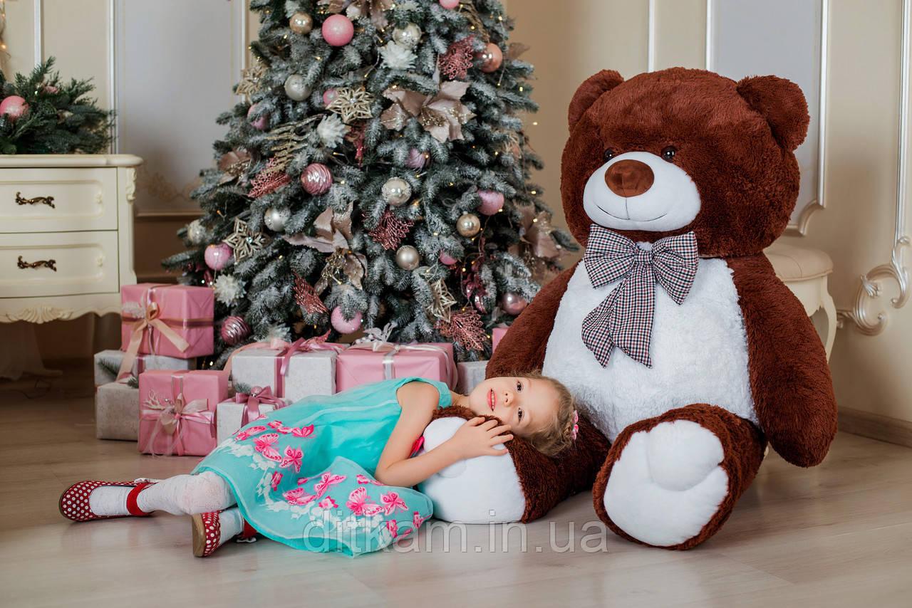 Мягкая игрушка Медведь Джеральд (165см)Шоколадный