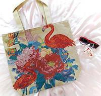 Сумка из ткани гобелен Фламинго, фото 1