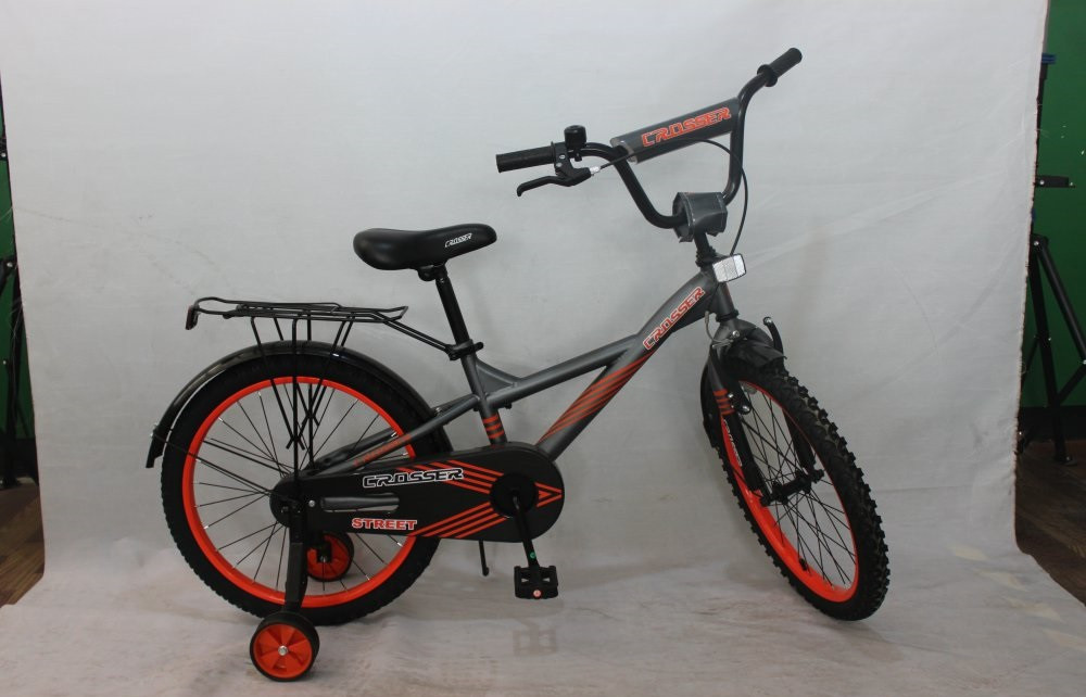 "Велосипед 2-х кол. Azimut Street Crosser 16"" графит"