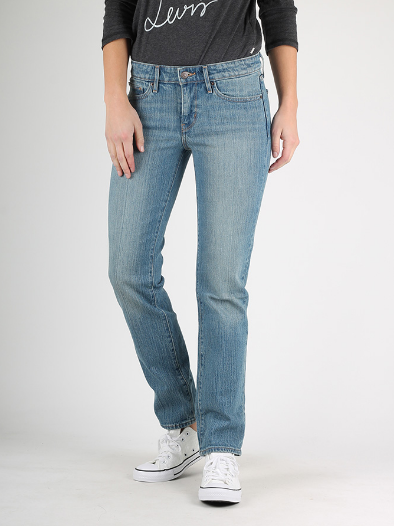 Джинсы женские Levi's 714 Straight/W23xL30/Mid Rise/Slim trough/Hip and thigh/Оригинал