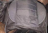 Чехлы модельные Pilot для  Lanos ткань черная+ темно-серая (Пилот для Деу Ланос)