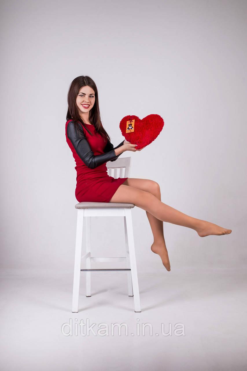 """Мягкая игрушка Медведь подушка """"Сердце"""" (30см)Красный"""