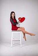 """Мягкая игрушка Медведь подушка """"Сердце"""" (30см)Красный, фото 1"""