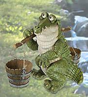 "Фигурка Кашпо ""Крокодил с коромыслом"" (Sealmark)"