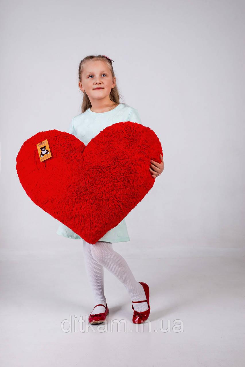 """Мягкая игрушка подушка """"Сердце"""" (75см)Красный"""