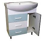 Зеркало 65 для ванной комнаты с подсветкой и шкафчиком Дебют Перфект  мотыль бирюза, фото 8