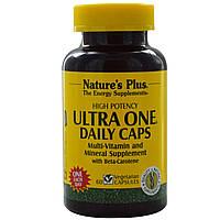 Ежедневные Мультивитамины, Ultra One, Natures Plus, 60 гелевых капсул