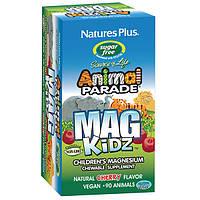 Магний для Детей без Сахара, Вкус Вишни, Animal Parade, Natures Plus, 90 жевательных таблеток