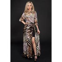 Шикарное шифоновое платье макси, р 42-50