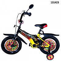 "Велосипед 2-х колес 14""  ""Sprinter"" со звонком,зеркалом,вставками в колесах"
