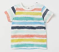 Полосатая футболка для мальчика, H&M, 0696179
