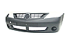 Бампер передний без отверстий под противотуманные фары (противотуманки) FPS Dacia / Renault Logan седан фаза 1