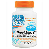 12-Часовой Витамин С, Pure Way, Doctor's Best, 60 таблеток