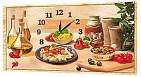 Настенные часы Декор Карпаты 53х29 Приятного аппетита (53х29-ch33)