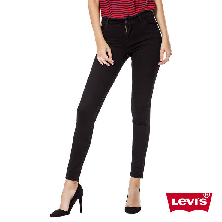 Джинсы женские Levi's 710 Super skinny/W23xL32/Mid Rise/Slim trough/Hip and thigh/Оригинал, фото 2