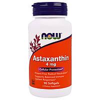 Астаксантин 4мг, Now Foods, 90 желатиновых капсул