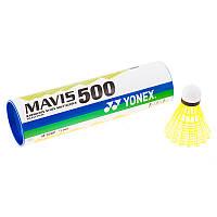 Воланы Mavis Yonex 500 желтый,нейлон, 6шт