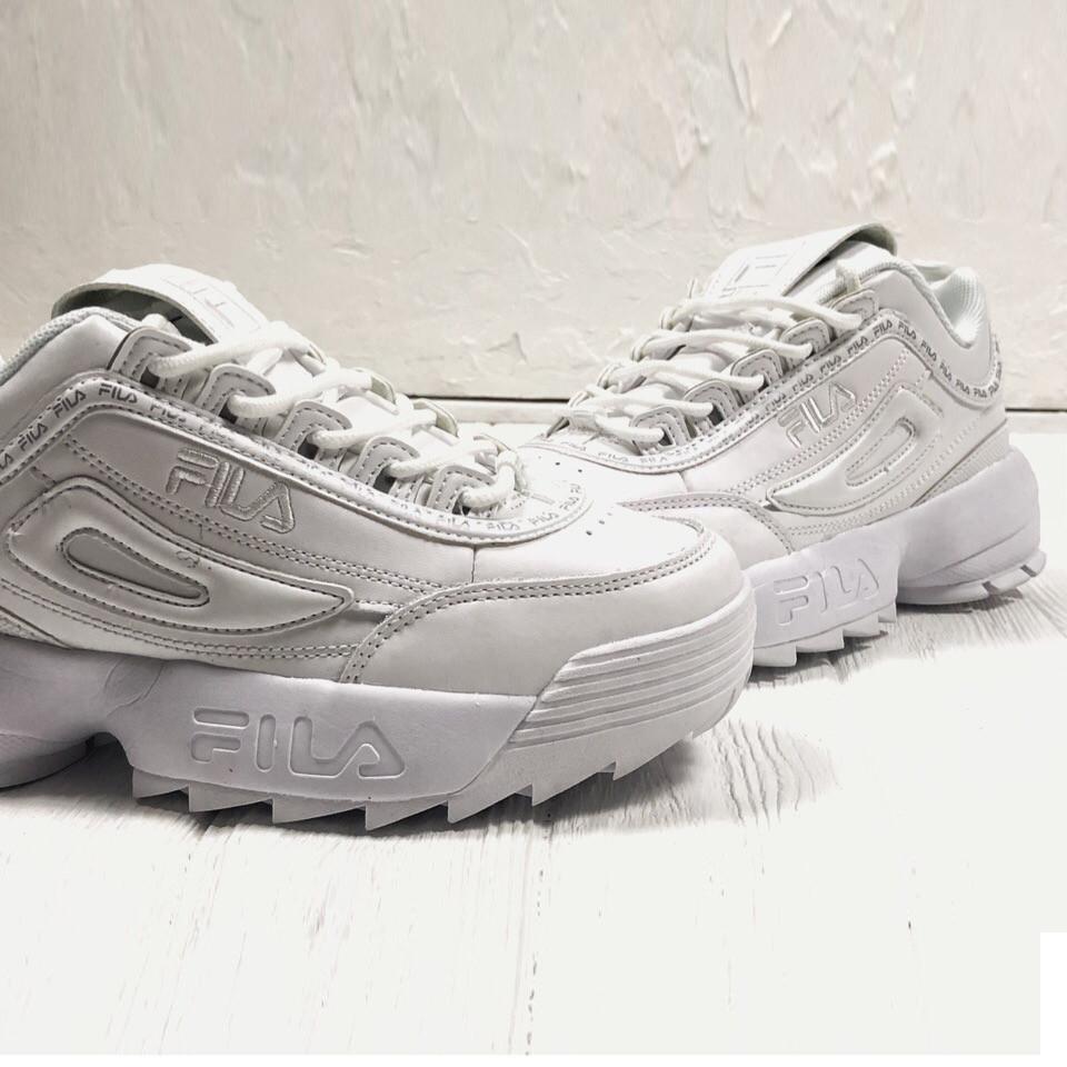Кроссовки белые женские Фила Дизраптор 2 (Fila Disruptor 2) размер 37, 38, 39, 40, 41 реплика