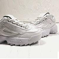 Кроссовки белые женские Фила Дизраптор 2 (Fila Disruptor 2) размер 37, 38, 39, 40, 41 реплика, фото 1
