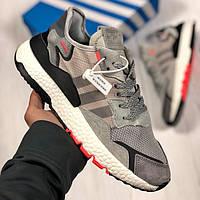 Кроссовки серые мужские Адидас Найт Джоггер (Adidas Nite Jogger ) размер 41, 42, 43, 44, 45 реплика