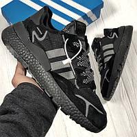Кроссовки черные мужские Адидас Найт Джоггер (Adidas Nite Jogger ) размер 41, 42, 43, 44, 45 реплика