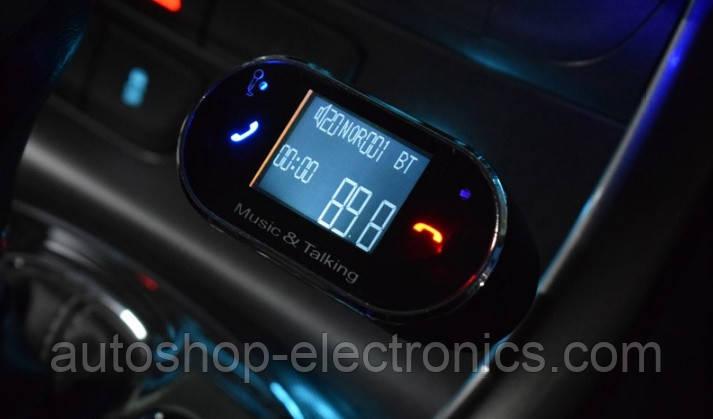 Модулятор ( Bluetooth / FM / USB / microSD / AUX / HandsFree / многострочный LCD дисплей / громкая связь