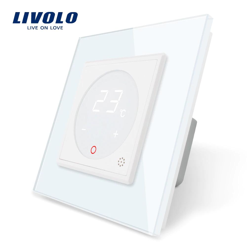 Терморегулятор сенсорный Livolo для водяных систем отопления цвет белый (VL-C701TM-11)