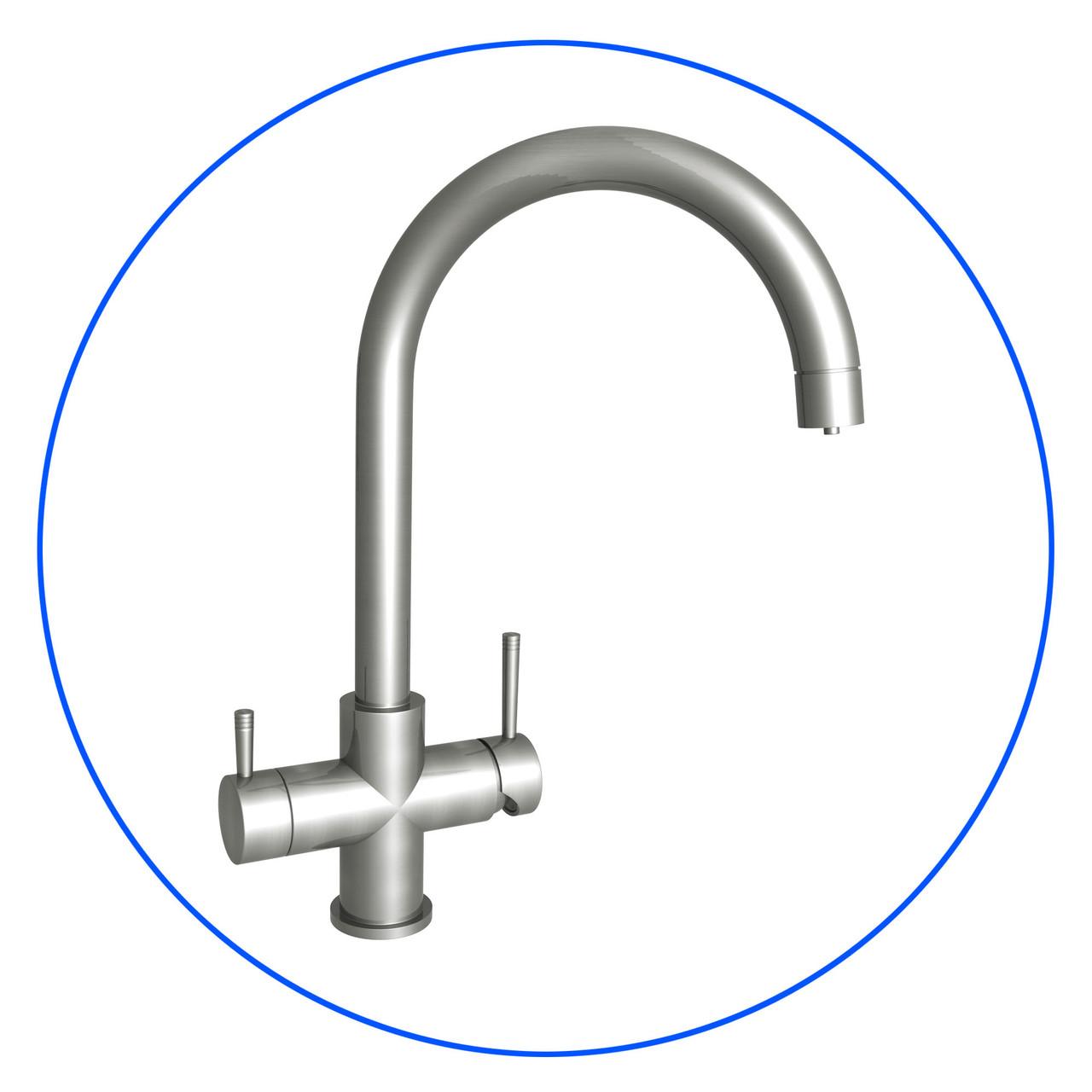 Чотирьохпозиційний кухонний змішувач під осмос Змішувач Aquafilter FXFCH14-4-C_K