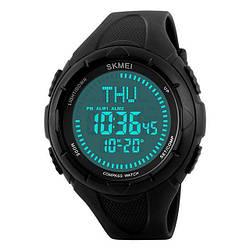 Cпортивные часы с компасом Skmei(Скмей)1232 Compass Black