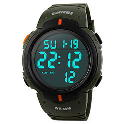 Cпортивные мужские часы Skmei(Скмей) 1068 Army Green