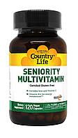 Мультивитамины для Пожилых, Country Life, 120 гелевых капсул